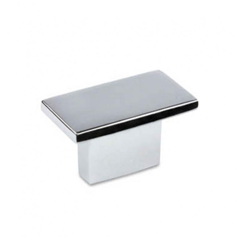 Image of a Square chrome knob.